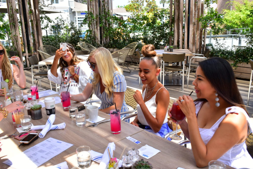 Outdoor Brunch at The Lot in La Jolla with notable bloggers
