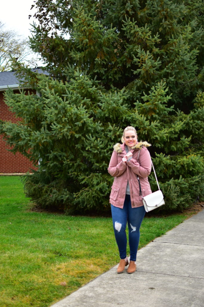 Finding Fall Favorites with Stitch Fix - Fur-trimmed cargo jacket