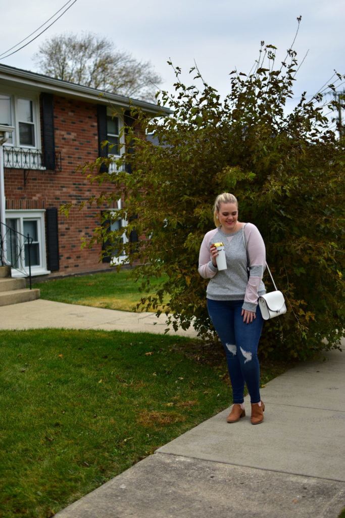 Finding Fall Favorites with Stitch Fix - Cozy Sweater and Distressed Denim