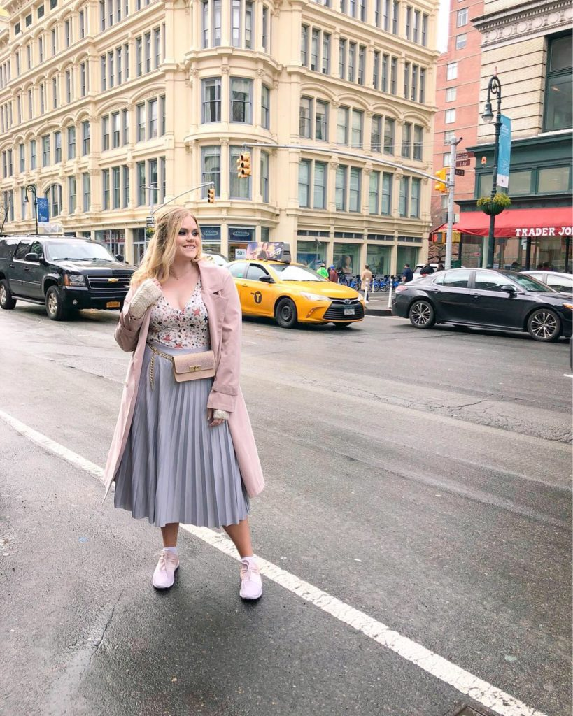 1d985a0b9 ... Target pink sneakers NYFW A/W 19 Part One - Pastel Feminine Style New  York Fashion Blogger
